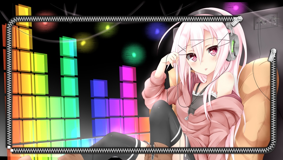 Anime Girl With Headphones Lock Screen Ps Vita Wallpapers Free Ps Vita Themes And Wallpapers