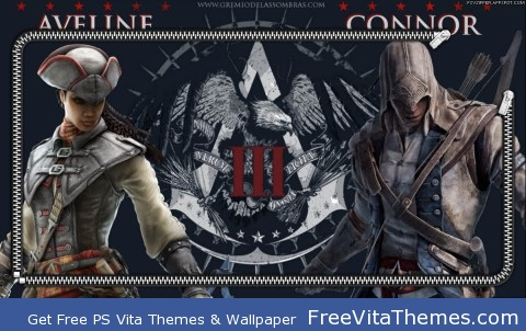 Zipper Lockscreen| Assassin's Creed III Aveline & Connor PS Vita Wallpaper