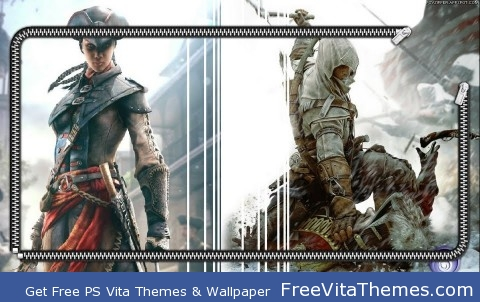 Zipper Lockscreen| Assassin's Creed III X Liberation PS Vita Wallpaper