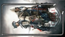 Download Zipper Lockscreen| Assassin's Creed III Aveline & Connor Back-2-Back PS Vita Wallpaper