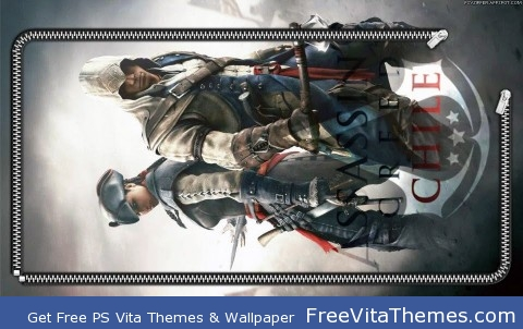 Zipper Lockscreen| Assassin's Creed III Aveline & Connor Back-2-Back PS Vita Wallpaper