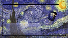 Download Tardis Van Gogh PS Vita Wallpaper