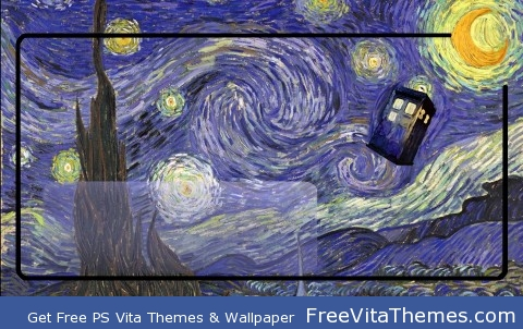 Tardis Van Gogh PS Vita Wallpaper
