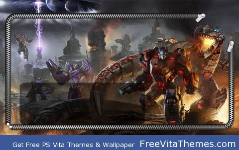 Fall of Cybertron Lockscreen PS Vita Wallpaper