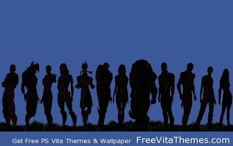 Mass Effect 2 Crew Transparent Dynamic PS Vita Wallpaper