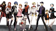 Download Shin Megami Tensei Persona 3 Collage Protagonists Transparent Dynamic PS Vita Wallpaper