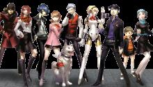 Download Shin Megami Tensei Persona 3 Collage Protagonists Transparent Dynamic PS Vita Wallpaper