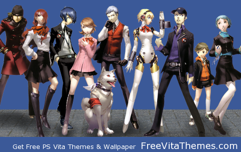 Shin Megami Tensei Persona 3 Collage Protagonists Transparent Dynamic PS Vita Wallpaper