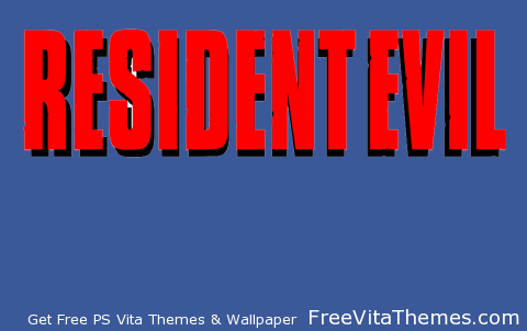 Resident Evil 1 Logo PS Vita Wallpaper