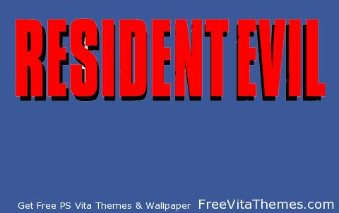Resident Evil 1 Logo PS Vita Wallpaper