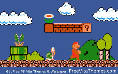 Super Mario Transparent Dynamic PS Vita Wallpaper