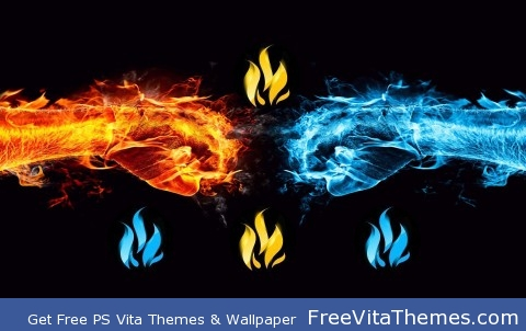Fire hands PS Vita Wallpaper