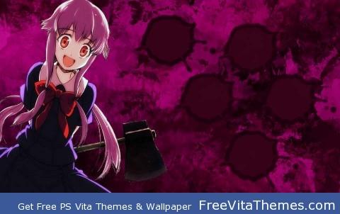 yuno-mirai nikki PS Vita Wallpaper