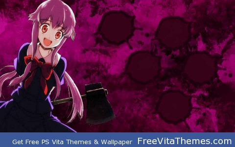 yuno-mirai nikki PS Vita Wallpaper