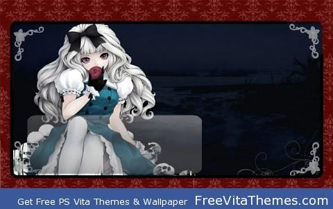 Anime Gothic Lolita Lockscreen PS Vita Wallpaper