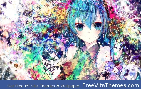 Hatsune Miku PS Vita Wallpaper