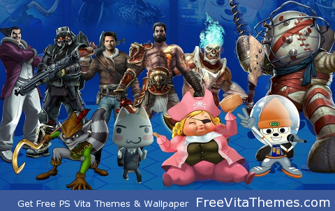 Playstation All Stars Battle Royale PS Vita Wallpaper