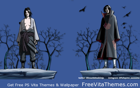 Itachi & Sasuke Transparent Wallpaper PS Vita Wallpaper