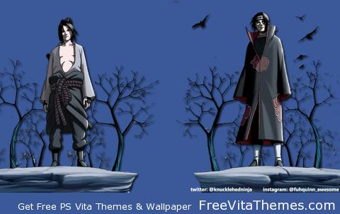Itachi & Sasuke Transparent Wallpaper PS Vita Wallpaper