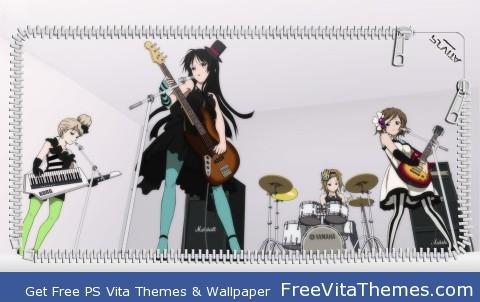 K-On! Lock Screen 1 PS Vita Wallpaper