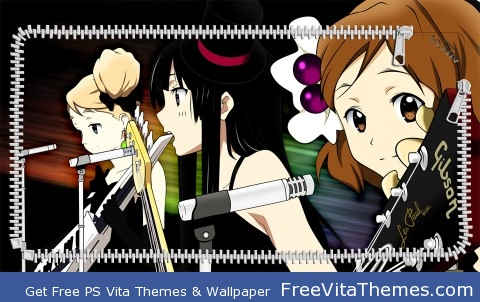 K-On! Lock Screen 2 PS Vita Wallpaper