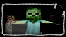 Download Minecraft Zombie Suprise PS Vita Wallpaper