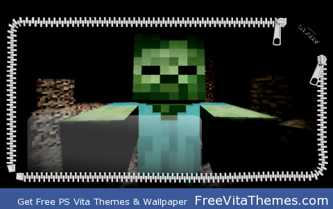 Minecraft Zombie Suprise PS Vita Wallpaper