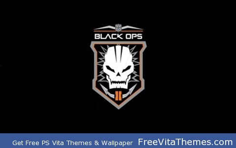 Black Ops 2 emblem, plain PS Vita Wallpaper