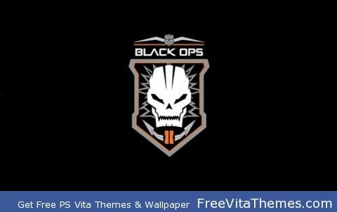 Black Ops 2 emblem, plain PS Vita Wallpaper