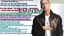 Download Eminem Lyric Theme PS Vita Wallpaper