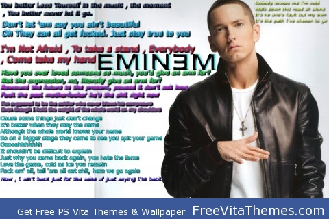 Eminem Lyric Theme PS Vita Wallpaper