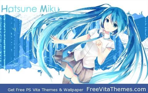Hatsune Miku v3 PS Vita Wallpaper
