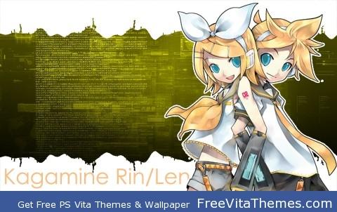 Kagamine Rin/Len PS Vita Wallpaper