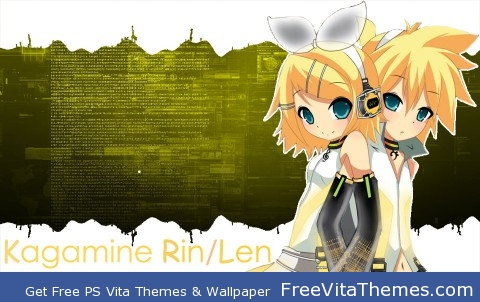 Kagamine Rin Len v2 PS Vita Wallpaper