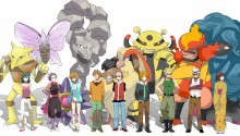 Download pokemon first gen gym leaders PS Vita Wallpaper