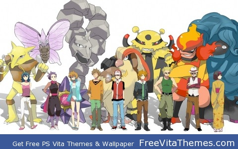 pokemon first gen gym leaders PS Vita Wallpaper