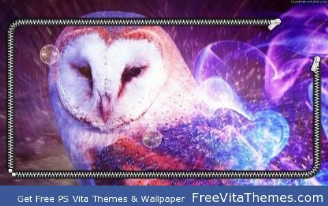 Owl in flame zip lockscreen PS Vita Wallpaper