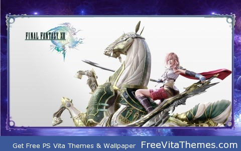 FFXIII Lightning & Odin PS Vita Wallpaper