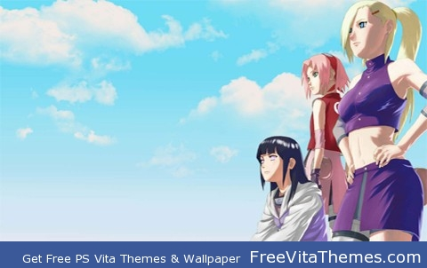 Naruto shippuden Ino, sakura, hinata PS Vita Wallpaper