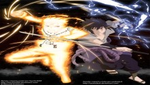 Download Naruto shippuden Naruto bjiuu mode and saskae PS Vita Wallpaper