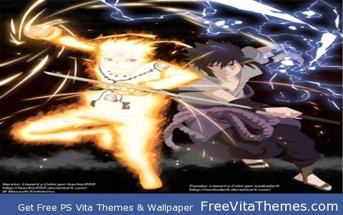 Naruto shippuden Naruto bjiuu mode and saskae PS Vita Wallpaper
