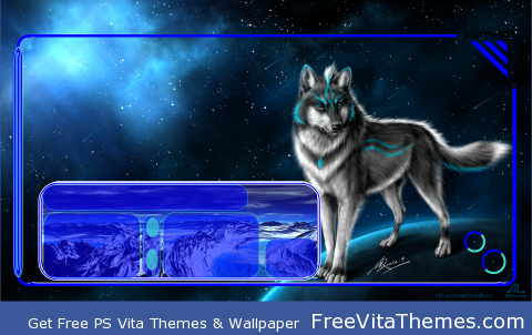 Wolf Space PS Vita Wallpaper