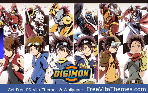 Digimon Digi Destined Male Figures Wall PS Vita Wallpaper