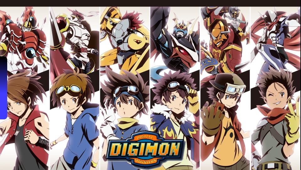 Digimon Digi Destined Male Figures Wall PS Vita Wallpapers