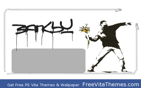 Banksy_flower thrower PS Vita Wallpaper