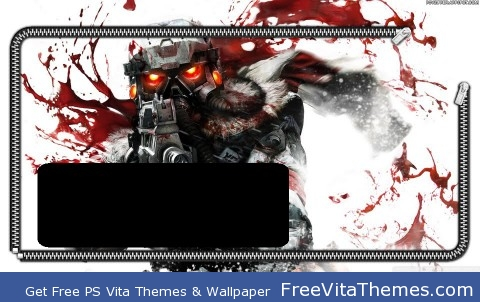 killzone lockscreen (w/ time date bubble) PS Vita Wallpaper