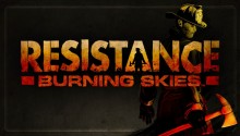 Download Resistance Burning Skies lock screen PS Vita Wallpaper
