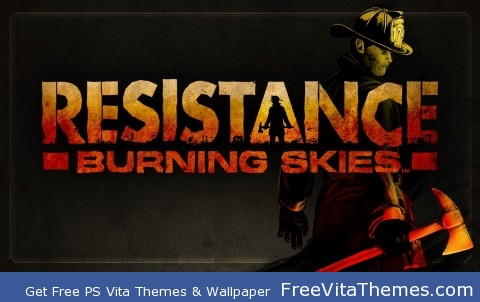 Resistance Burning Skies lock screen PS Vita Wallpaper