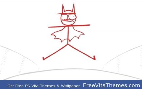 Dick Figures – I'm Batman PS Vita Wallpaper