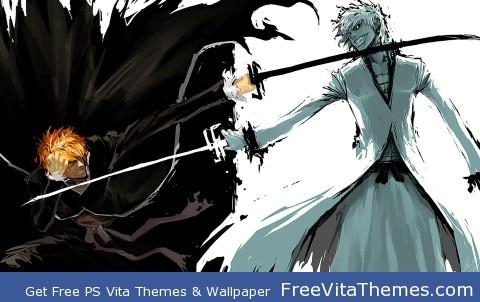 Bleach IchigoxHollow PS Vita Wallpaper